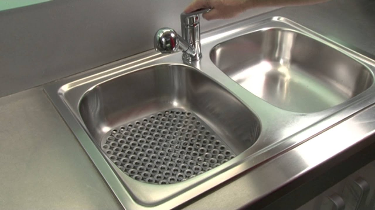 sink mat tescoma clean kit 32x28 cm - youtube