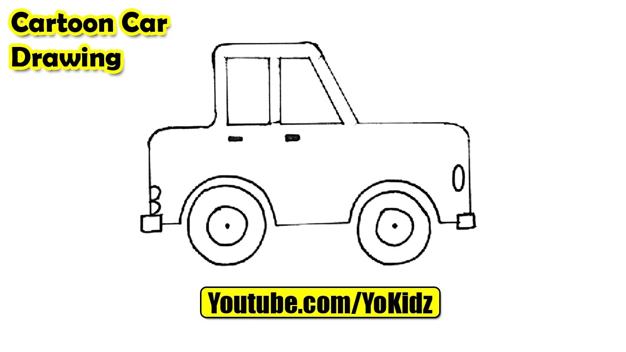 how to draw a cartoon car easy youtube