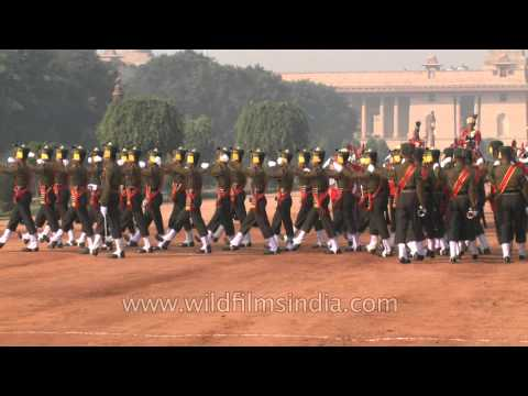 Changing of the Guard parade at Rashtrapati Bhavan
