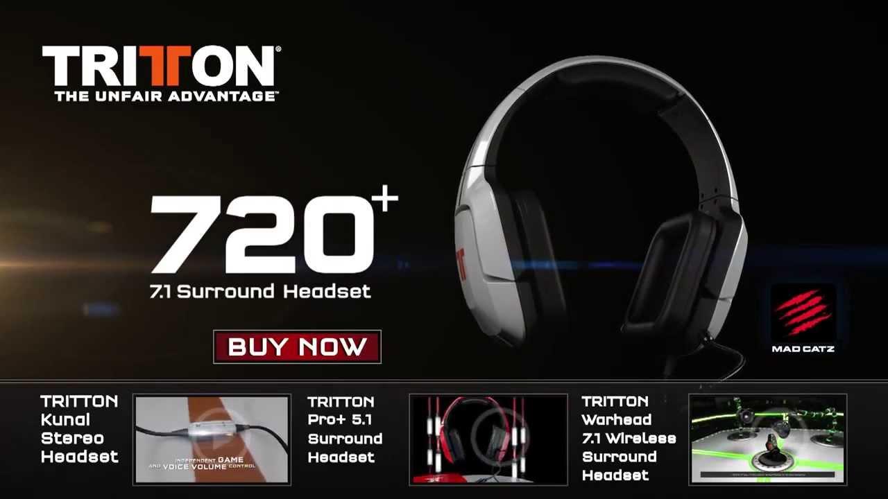 84312a80a16 TRITTON 720+ 7 1 Surround Headset - YouTube