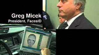 FACES police sketch software as used in a police car