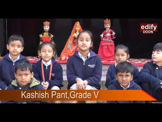 Puppet show at Edify world school , Dehradun