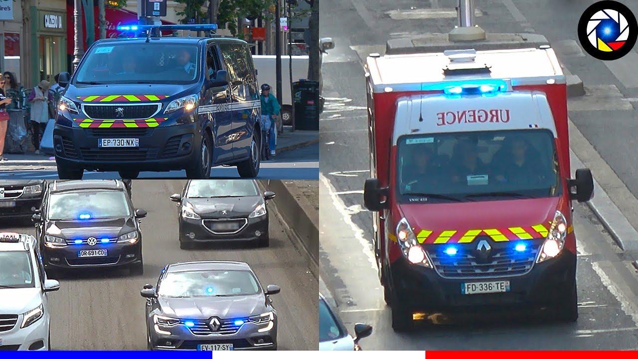 Download [Paris] Véhicules d'Urgence - Pompiers, SAMU, Police (Part 2) Paris Emergency Services responding