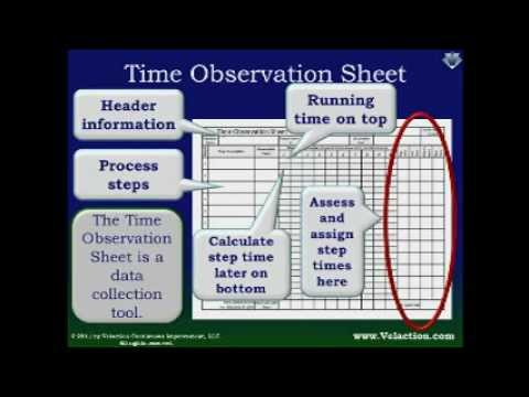 Time Observation Sheet Free Form For Documenting Lean