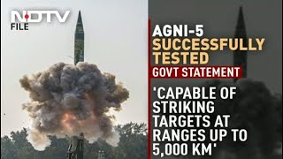 In Message To China, India Tests Agni-V Missile With 5,000 Km Range