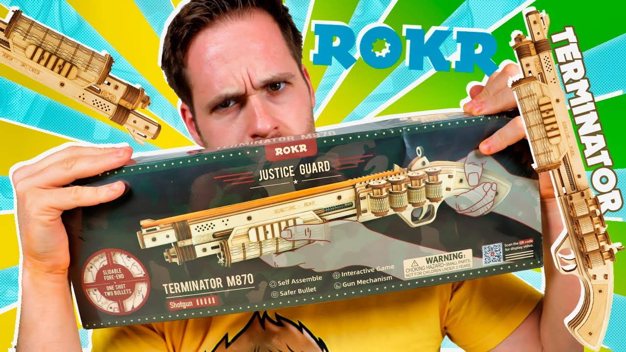 Rokr UNBOXING PISTOLA DE GOMAS TERMINATOR M870 en Pe Toys