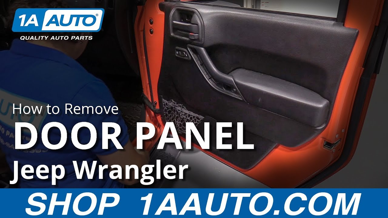 How To Remove Door Panel 06 18 Jeep Wrangler Youtube