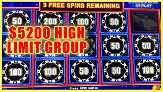 🎰 $5200 HIGH LIMIT 💰Group Pull👌 @Cosmopolitan Las Vegas ✦ Slot Machine Pokies w Brian Christopher