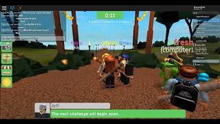 Playing Survival on roblox