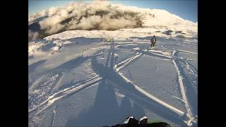 Early Season Ski Craziness on Heliotrope Ridge