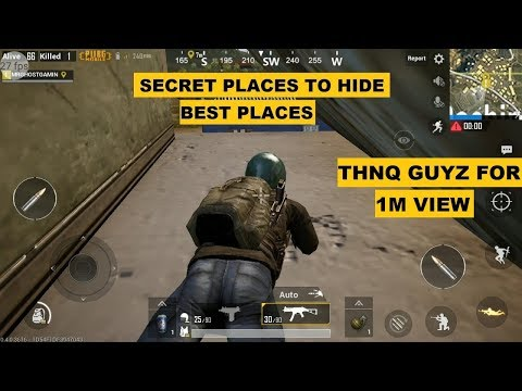 PUBG MOBILE SECRET PLACES TO HIDE AND KILL