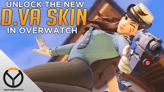 Overwatch: How to UNLOCK The Officer D.Va Skin!