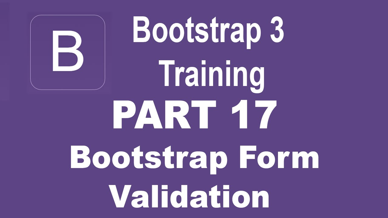 Bootstrap Tutorial For Beginners Part 17 Bootstrap Form