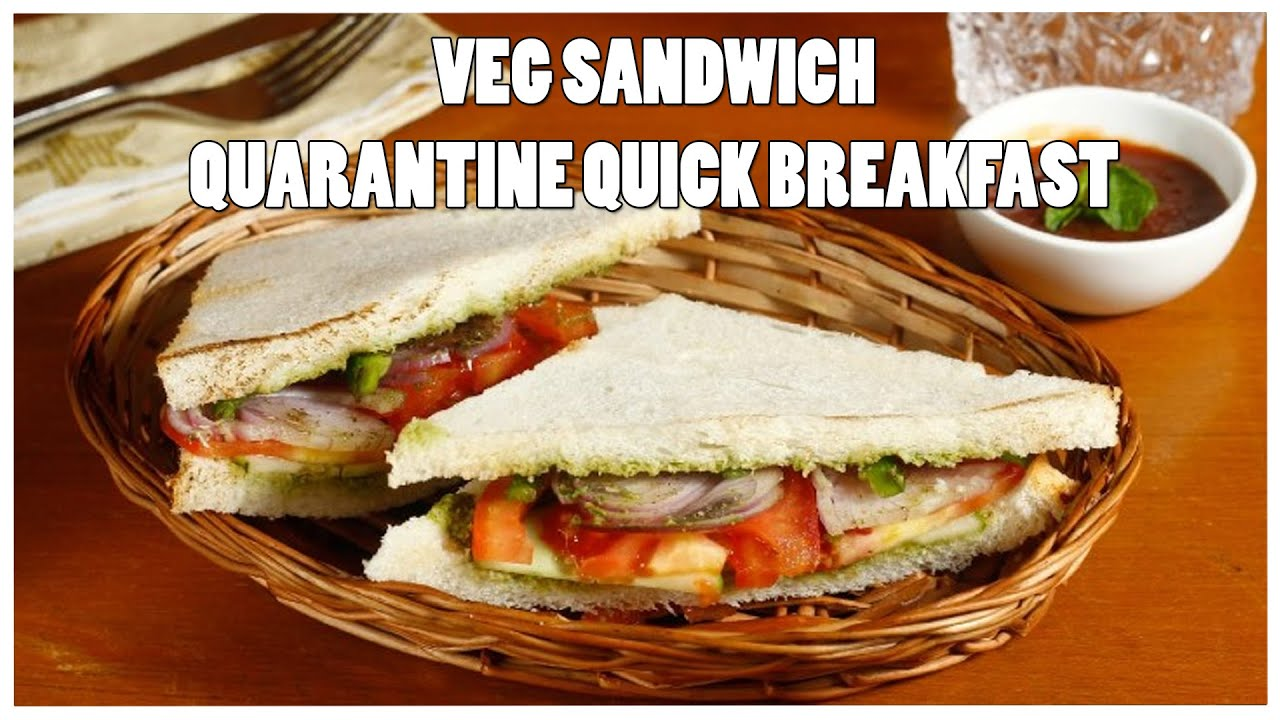 Veg Sandwich | Quarantine Quick Recipe | Easy Breakfast Sandwich | Dalgona Kitchen