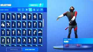 Chaque saison 2 Fortnite danse BASS BOOSTED (Floss Montez sur le poney Le ver)