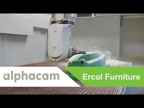 Alphacam Programs UK's Only Pro Evolution 5-Axis Twin Head Machine for ercol | Alphacam