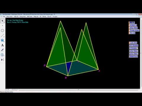 Mô phỏng 3D tren Sketchpad ve khai triển hình lăng trụ, hình chóp tam giác đều và từ giác đều