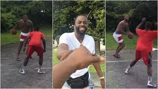 DeMarcus Cousins takes on local hooper in Bahamas, with Draymond Green, John Wall & Bledsoe watching