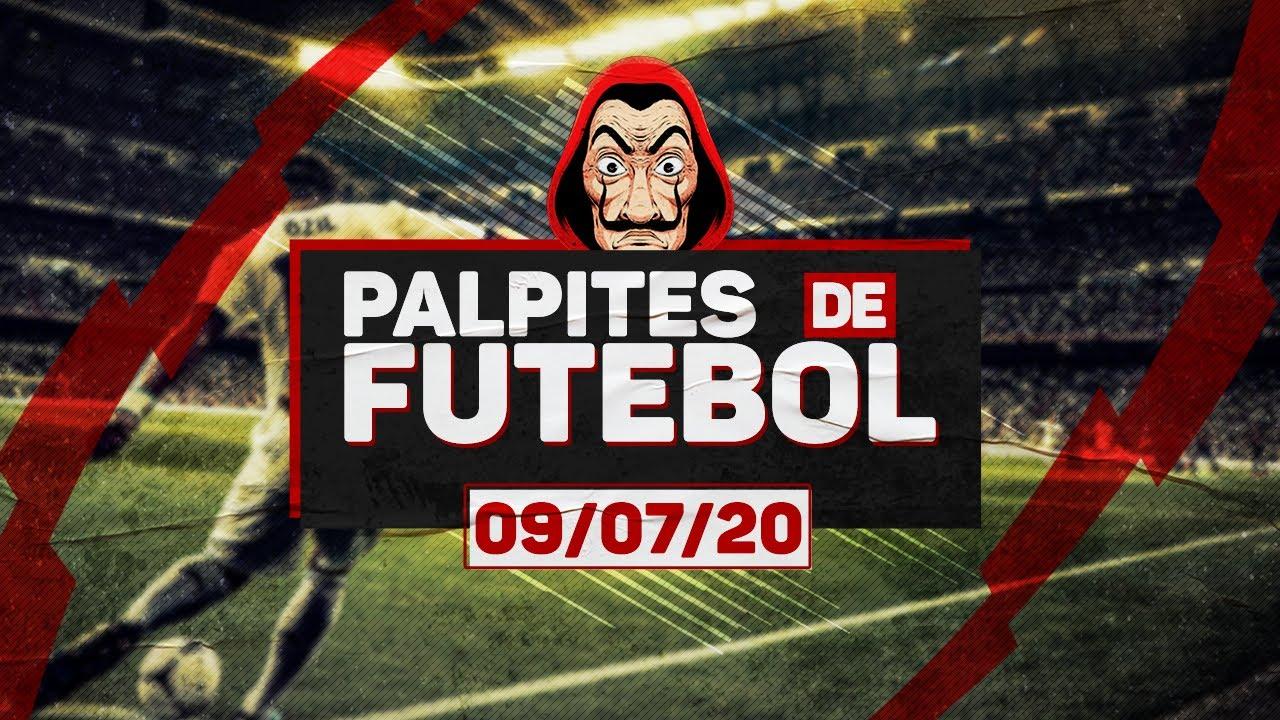 ⚽ PALPITES DE FUTEBOL PARA QUINTA-FEIRA DIA 09/07/2020