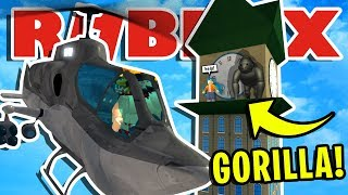 NOUS SAVE A GIRL WHEN A 'HUGE' GORILLA ATTACKS ROBLOXIAN HIGHSCHOOL!! | AVENTURE ROBLOX ROLEPLAY