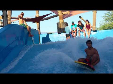 Sanchez at Yas Waterworld, Abu Dhabi Water park FlowRider Surf Machine Contest World Championship