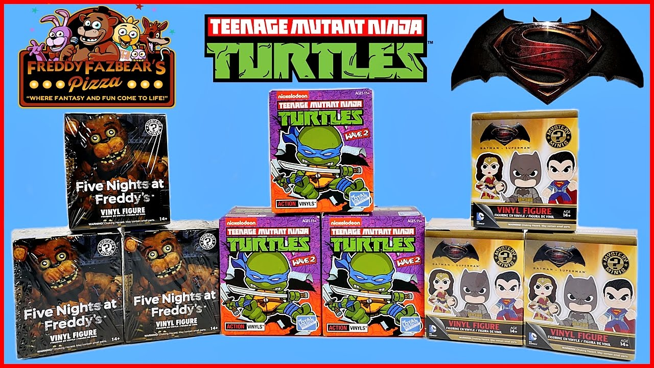 Blind Box Madness Mystery Minis Action Vinyls Tmnt Fnaf
