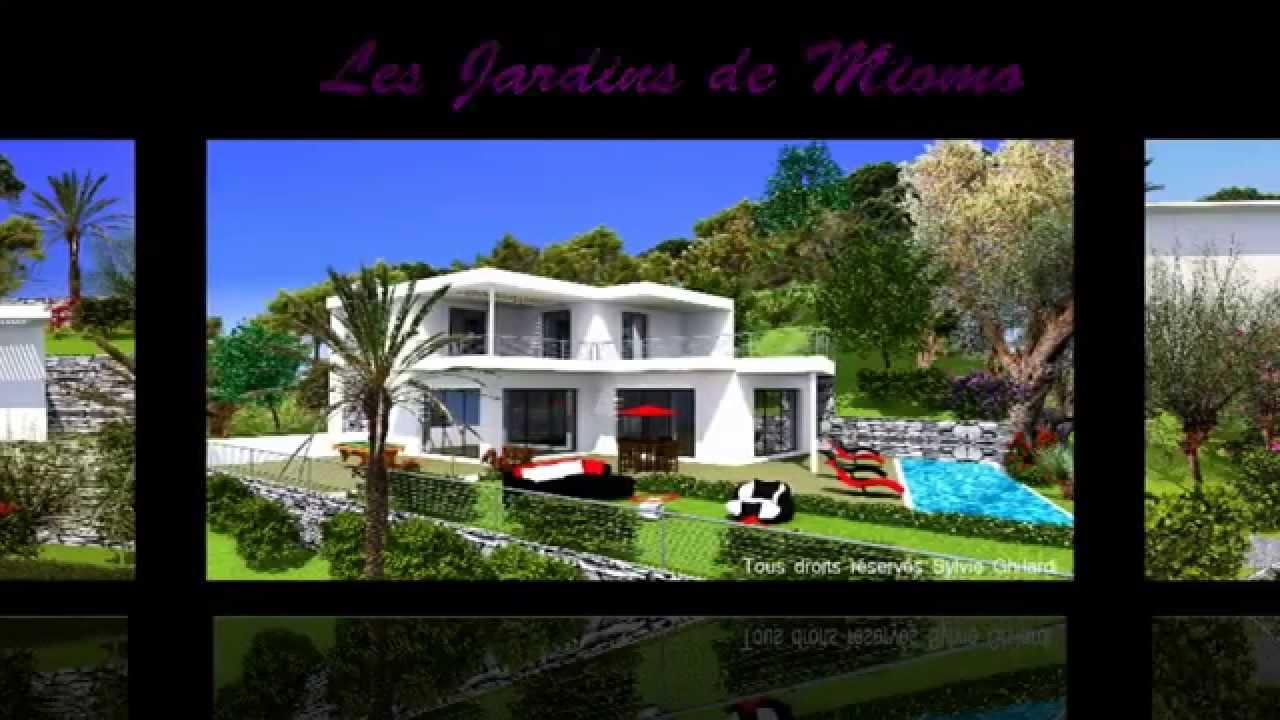 Vente villas et maisons dans le cap corse les jardins de miomo youtube for Les photos de maison