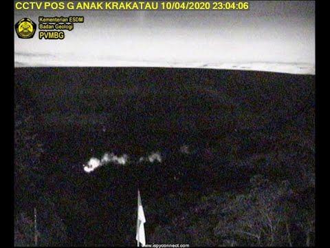 Krakatau eruption 10-11 April 2020