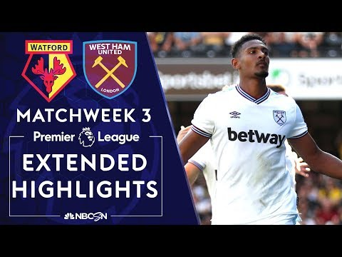 Watford v. West Ham United | PREMIER LEAGUE HIGHLIGHTS | 8/24/19 | NBC Sports