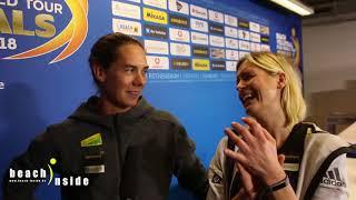 Kira Walkenhorst und Laura Ludwig über ihre Pause und Kiras Abwehr Erlebnisse #HamburgFinals