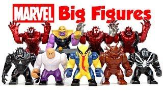 Carnage Venom Wolverine Toxin Avengers Thanos Venompool Groot Unofficial LEGO Big Figures Set 2