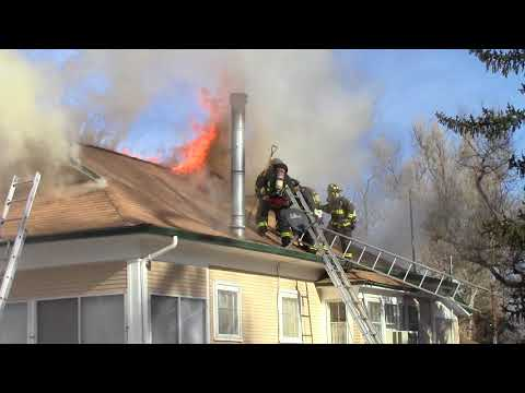 Greeley Fire Department- House Fire Post Vertical Ventilation