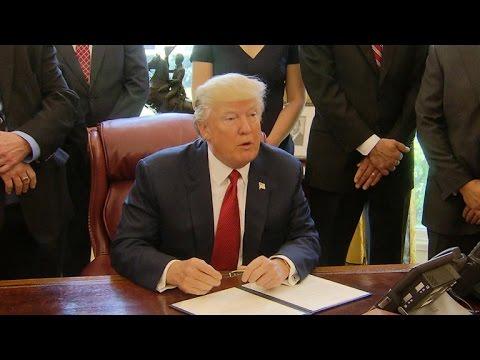 White House seeks victory ahead of 100 day mark