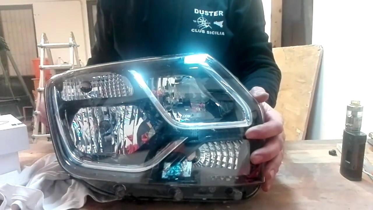 Installazione lampade led h7 e h1 su dacia duster youtube
