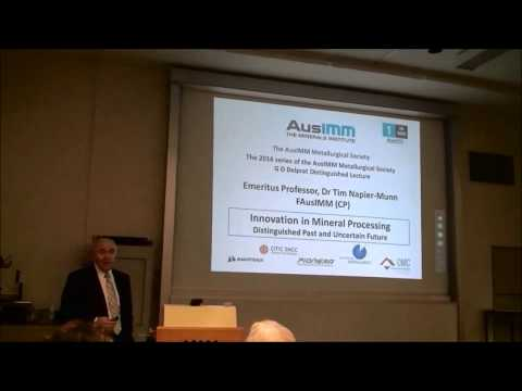 Tim Napier-Munn - Innovation in Mineral Processing: Distinguished Past and Uncertain Future