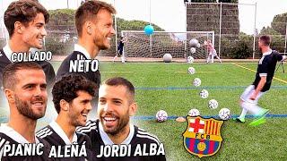 PJANIC vs JORDI ALBA vs NETO... *futbol challenge*