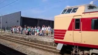 485系国鉄色ラストラン 特急あいづ&SLばんえつ物語号 会津若松駅同時発車(2016.06.18)