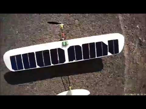 solar cell powered rc plane take off