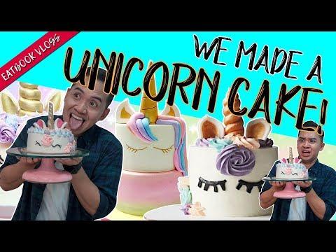 WE MADE A UNICORN CAKE! | Eatbook Vlogs | EP 76