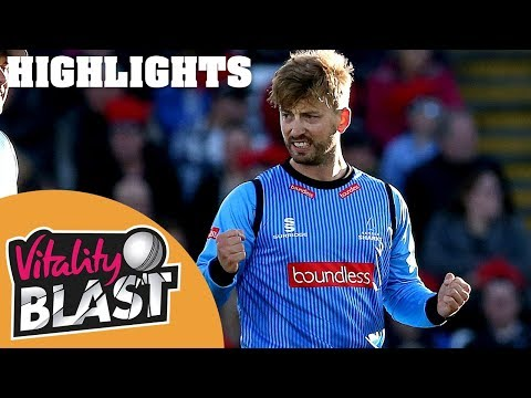 Sussex beat Durham by five wickets! | Durham Jets v Sussex Sharks | Vitality Blast 2018 - Highlights