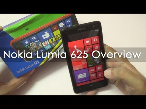 Nokia Lumia 625 Unboxing & Hands On Overview
