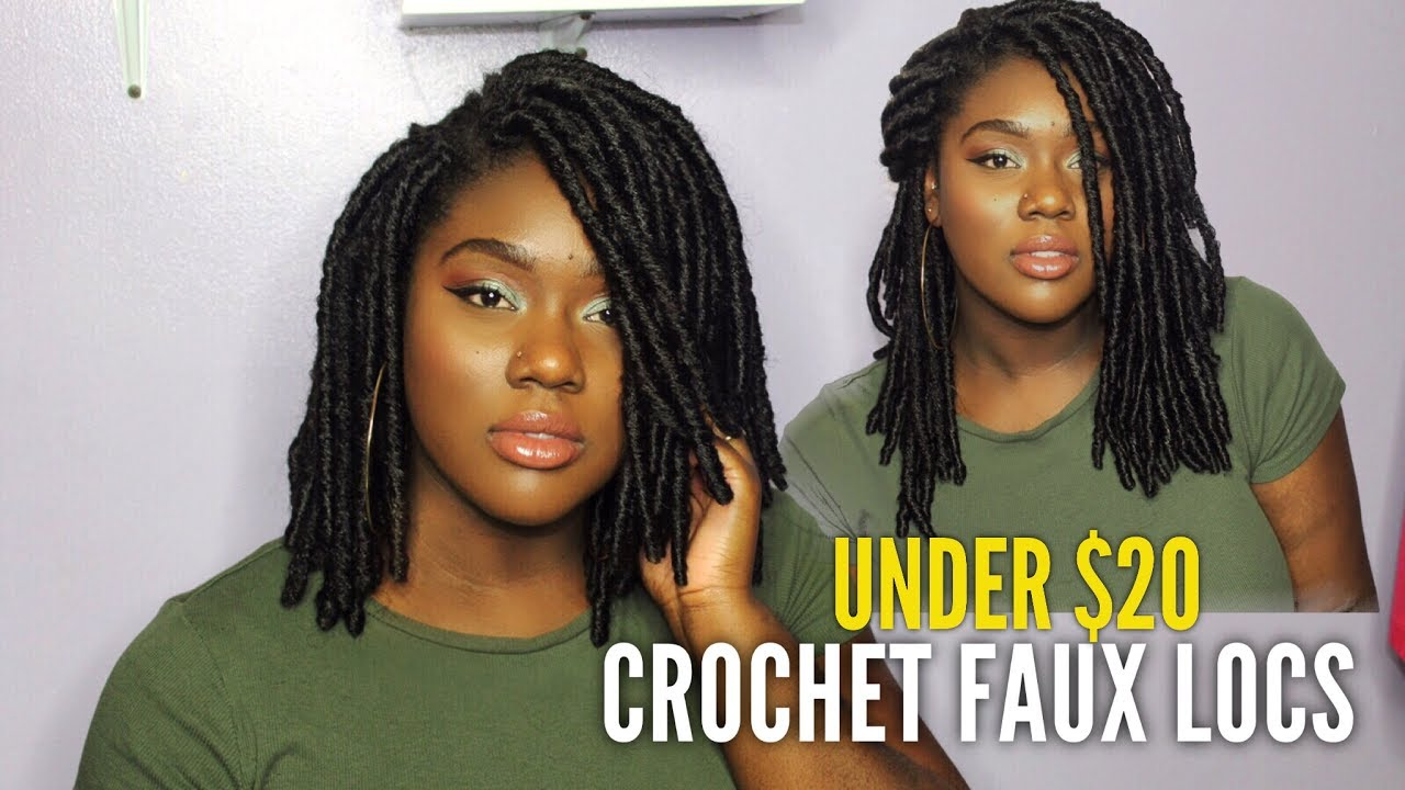 Short Crochet Faux Locs Under 20 Done In 1 Hour You