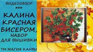 Калиная красная Б-095, картина бисером: Обзор набора для вышивки бисером Магия Канвы на kanva.in.ua
