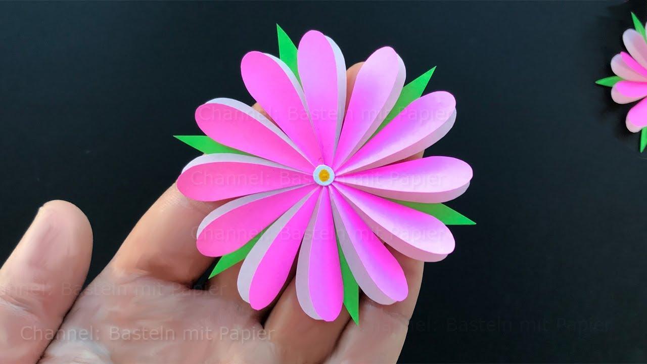 Blumen basteln mit Papier ud83c udf38 Bastelideen zum Geschenke selber machen DIY YouTube ~ 01153827_Liegestuhl Basteln Mit Geldschein