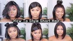 6 Quick & Easy Hairstyles On Short Wig! Affordable Everyday Bob Wig   FT HAIRVivi