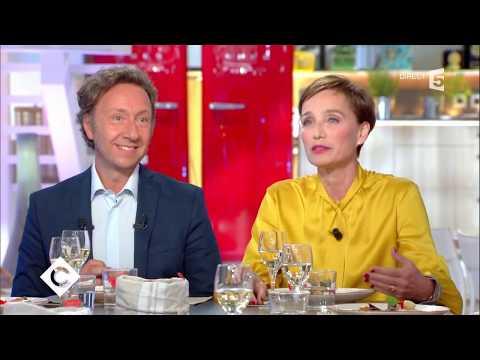 Kristin Scott Thomas et Stéphane Bern au dîner   C à vous  05092017