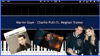 Marvin Gaye - Charlie Puth ft. Meghan Trainor (Synthesia) [Tutorial] [Instrumental ] [Download]