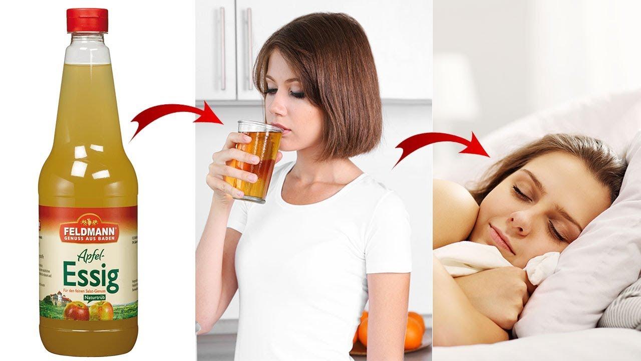 wie viel apfelessig zum abnehmen trinken