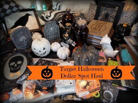 Huge Target 2016 Halloween & Fall Dollar Spot Haul - YouTube