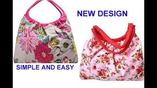 10 मिनट में cutting stitching of handmade handbag in hindi /shopping bag /travel bag